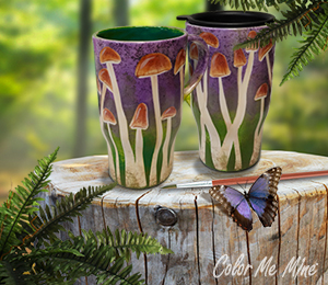 Norman Mushroom Mugs