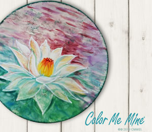 Norman Lotus Flower Plate